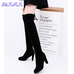 2017 women stretch scrub leather high boots sexy fashion over the knee boots high heels woman.jpg 250x250