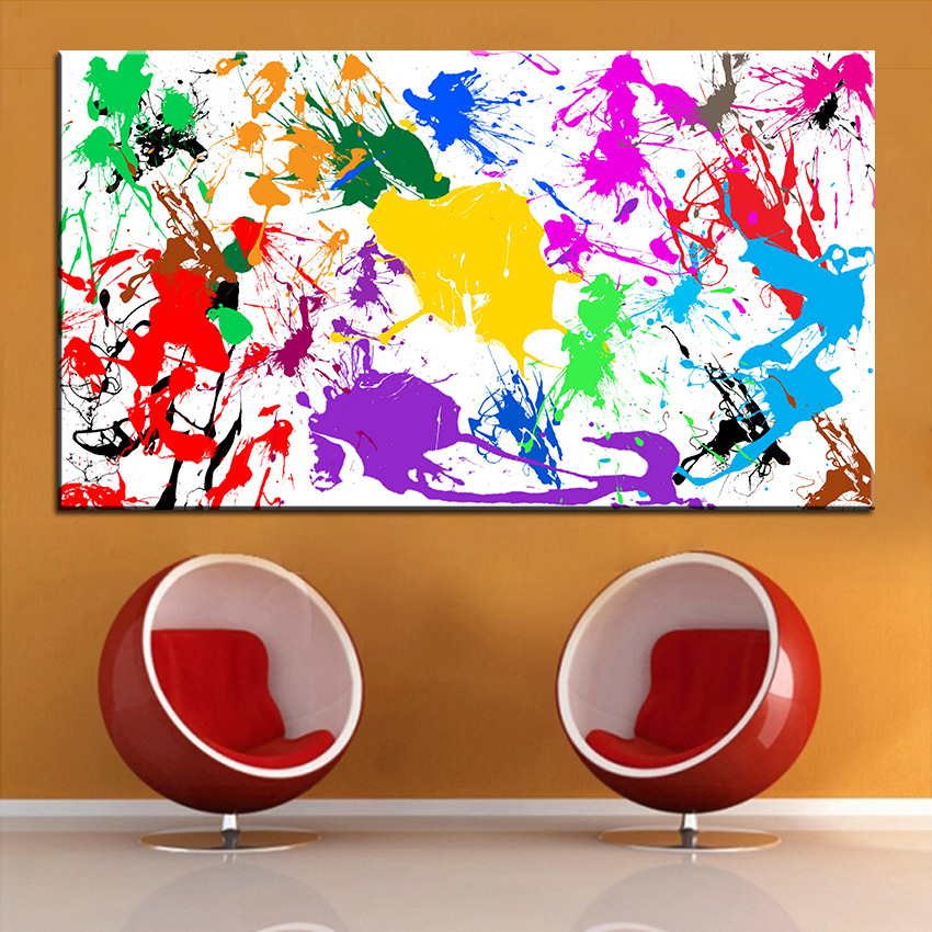 Splatter Paint Bedroom Ideas Black And White Rug Bedroom Key West Bedroom Decorating Ideas Bedroom Ideas Dark Brown Furniture: Large Size Printing Oil Painting Paint Splatter Wall