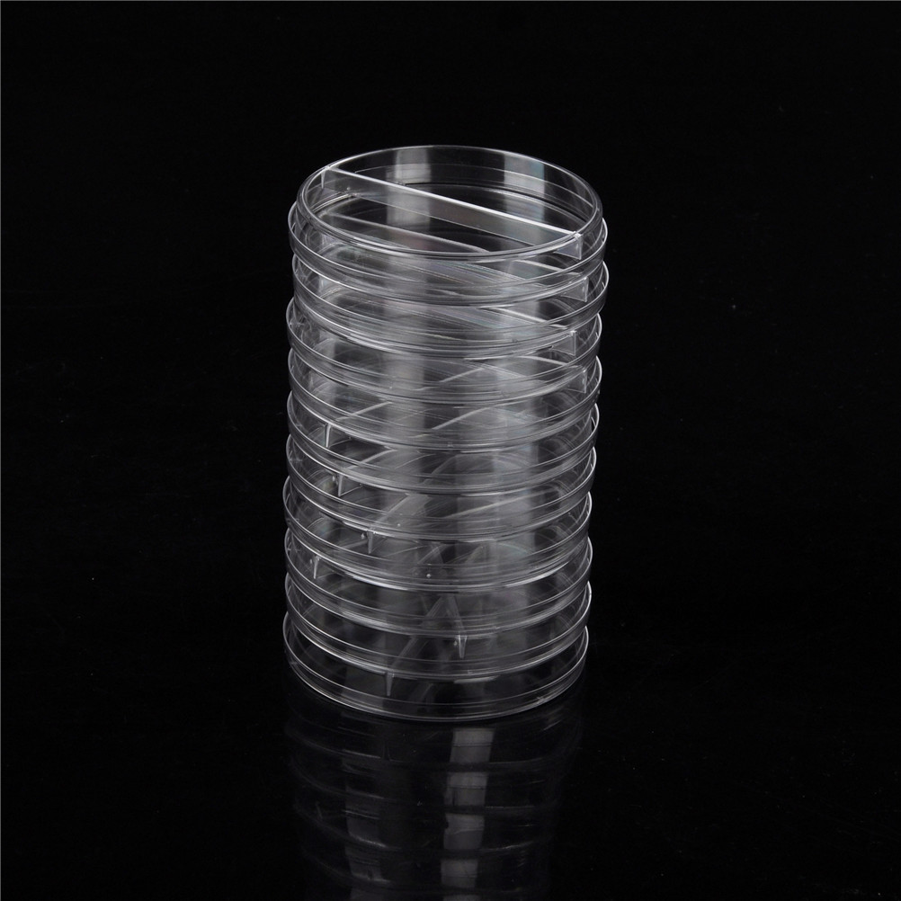 10pcs/set plastic Sterile Petri Dishes With Lids 90mm For Lab Plate Bacterial Yeast Biological Scientific Lab Supplies