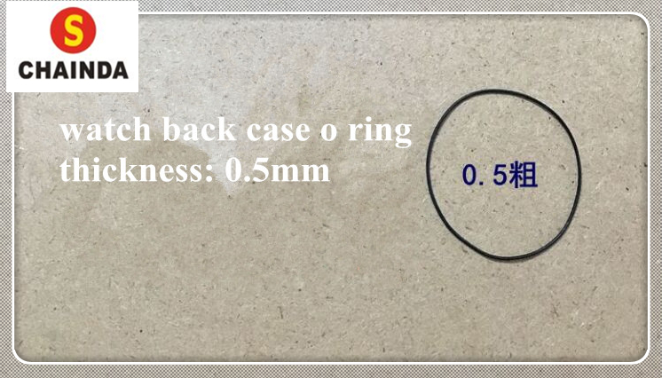 Free Shipping High Quality 20pcs 0.5mm Thick Watch Gasket O-Ring Select Size 22-40mm For Watch Repair Watch Back Case