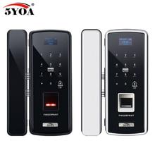 Vetro di Impronte Digitali Serratura Digitale Serratura Elettronica Per La Casa Anti furto di Password della Carta di RFID Intelligente Standalone Apri Smart