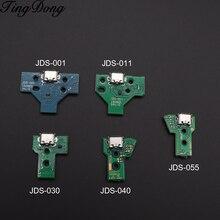 25 unids/lote JDS 001 JDS 011 JDS 030 JDS 040 JDS 055 Tarjeta de puerto de carga USB para PS4 controlador DualShock 4 piezas de reparación