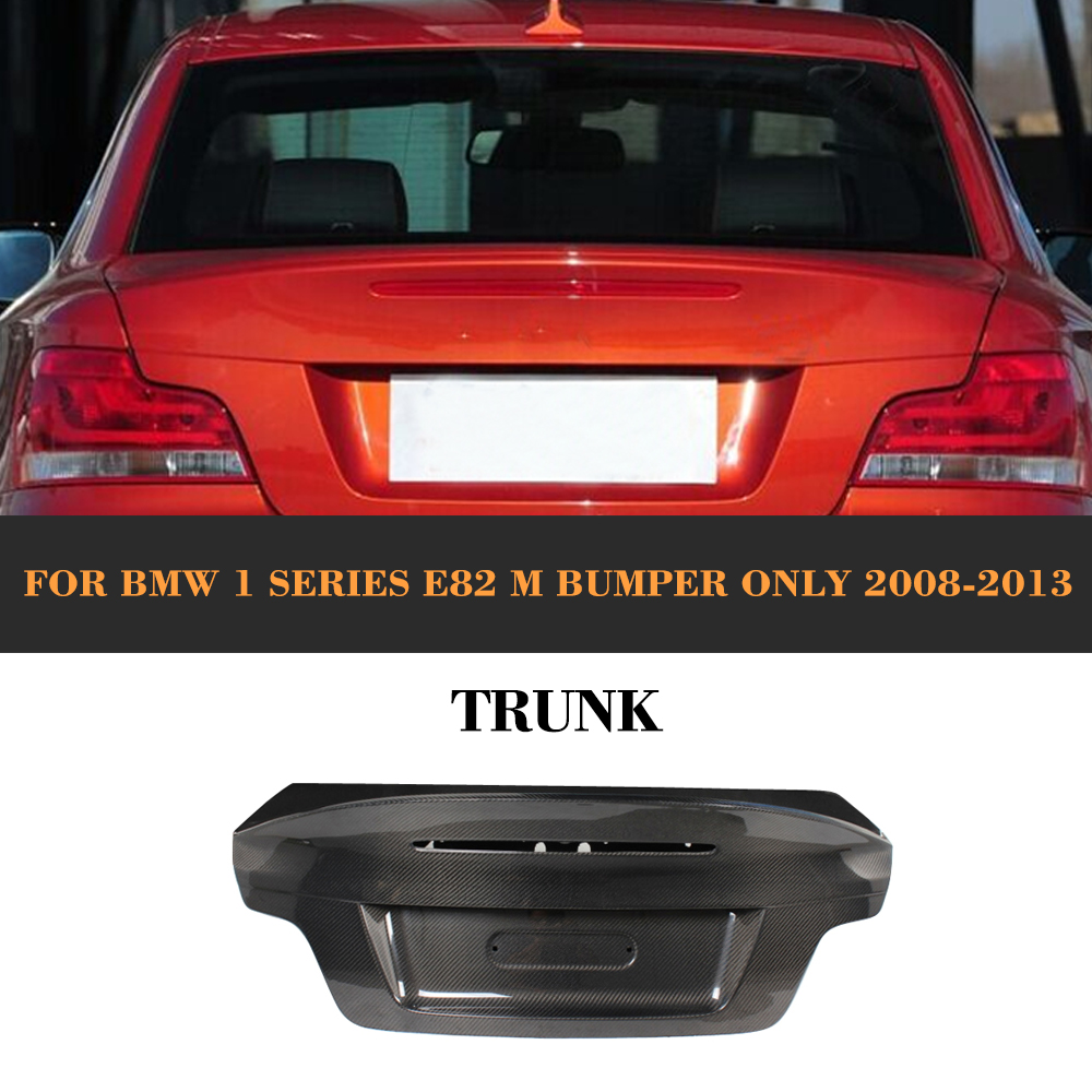 Carbon Fiber Rear Trunk Cover for BMW E82 M Only 2008 2013 Car Styling|cover for bmw|cover for|cover covers - title=