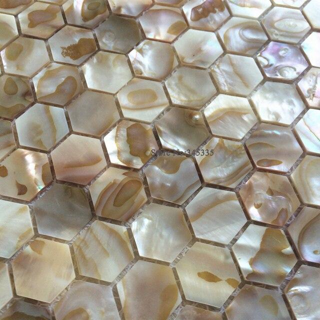 Naturliche Hexagon Shell Mosaik Fliesen Perlmutt Kuche Dusche Bad