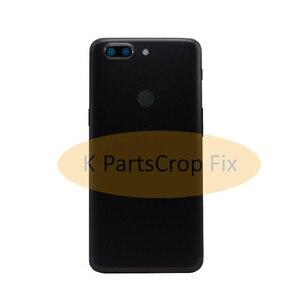 Image 3 - Original ด้านหลัง OnePlus A5010 5T ฝาครอบด้านหลังเคสประตู One Plus เปลี่ยน OnePlus 5T ฝาครอบ