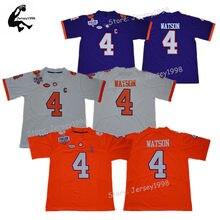 3f1bb229a48 New Arrival Mens Clemson Football Jerseys #4 Deshaun Watson Color Rush Stitched  Football jerseys 1975-1978 Fuller Patch-Orange