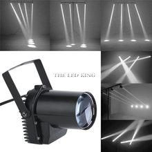 Holofote de led para iluminação de palco, 12w, profissional, dj, disco, festa, ktv, luz de fundo