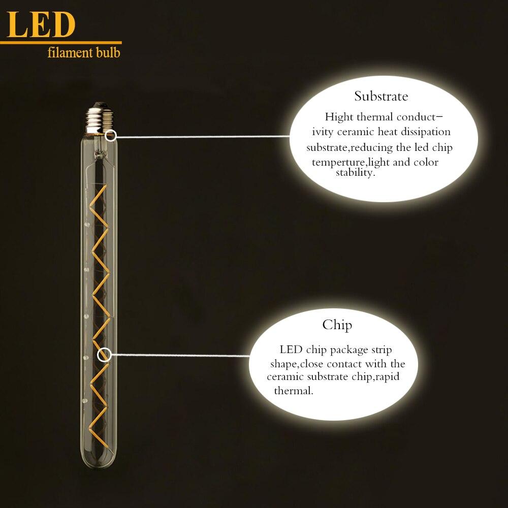Lâmpadas Led e Tubos t30 300mm, 6 w, edison Shape : T30 Zig Zag Tubular Estilo