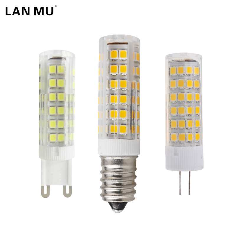 LAN MU Mini E14 G4 G9 LED Bulb 220V SMD 3W 5W 7W 51LEDs 75LEDs Corn Lamp LED Spotlight Replace 30w 40w Halogen Chandelier Light lan mu 10 pcs g9 led 220v 7w 9w 10w 11w corn bulb 360 degrees lamp g9 bulbs high quality chandelier light replace halogen lamp