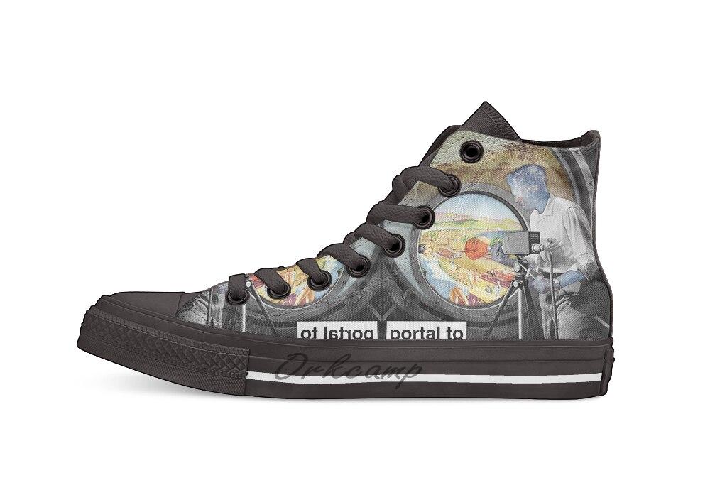 Portal to heaven Повседневная Высокая холщовая Обувь Кеды легкие ботинки для ходьбы