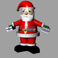 Inflatable Santa Claus model for Christmas party decoration giant Christmas balloon toys
