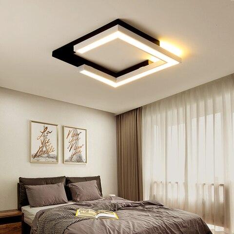 luzes de teto quadrado branco preto para sala de estar quarto de cama superficie montado