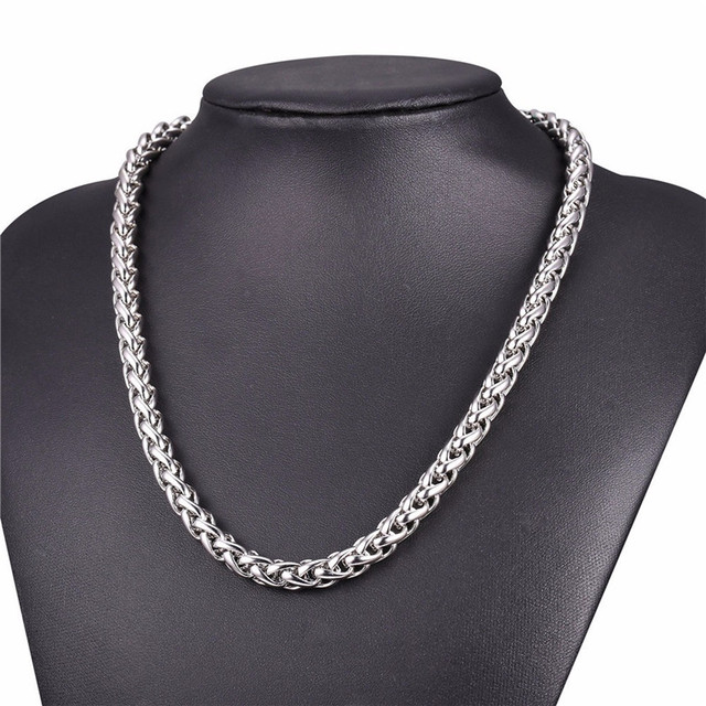 LUFANG 2019 Design Fashion Jewelry Hip Hop Chain Necklace 3 mm Exaggerated Personality Long Stainless Steel Necklace For Man