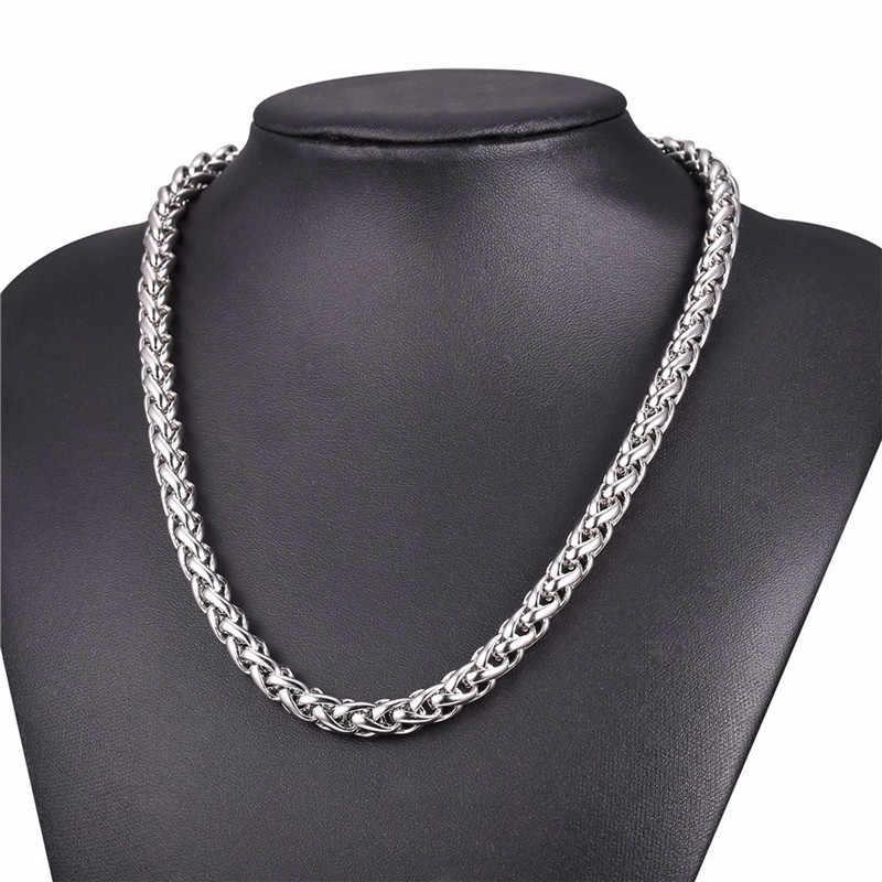 LUFANG 2019 projekt moda biżuteria łańcuch w stylu hip-hop naszyjnik 3 mm przesadne osobowości długie naszyjnik ze stali nierdzewnej dla człowieka