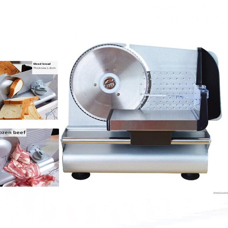 Ev Aletleri'ten Mutfak Robotları'de Koyun dilimleme makinesi ev planya sığır rulo ticari sığır kesim et dilimleyici tost ekmeği meyve sebze elektrikli kesme dilimleme title=