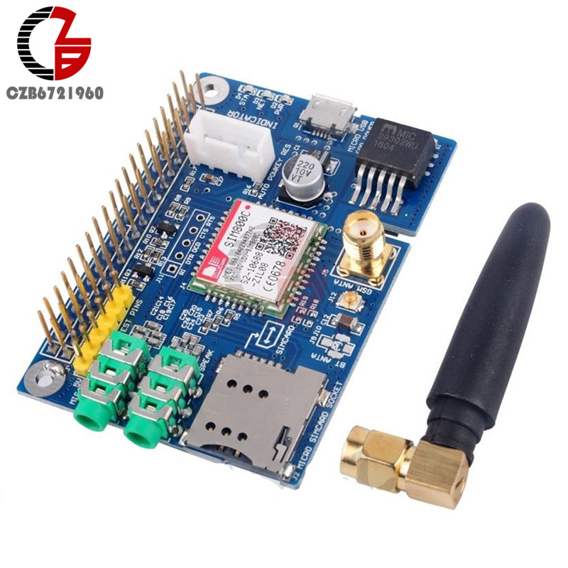 850/900/1800/1900MHz SIM800C GSM GPRS Module Quad-band Development Board With Micro USB for Raspberry Pi