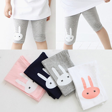 2016 children's female summer child clothing baby child capris knee-length  thin legging