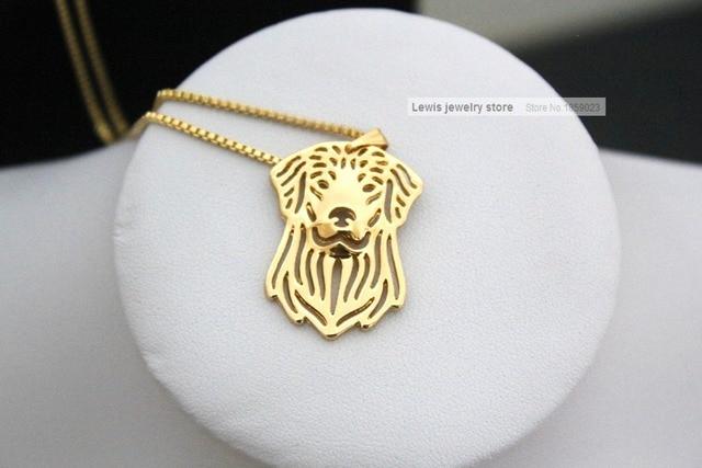 Фото оптовая продажа ожерелье золотистого ретривера из сплава в стиле