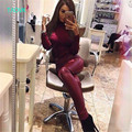 TAOVK Русский стиль дизайн новая мода 2017 женские Конфеты цвета PU леггинсы высокая талия тощий кожаные штаны для женщин