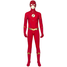 The Flash Season 5 Costume Barry Allen Cosplay Red Jumpsuit Superhero Shoes Props Adult Halloween Outfit with Mask Custom Made цены