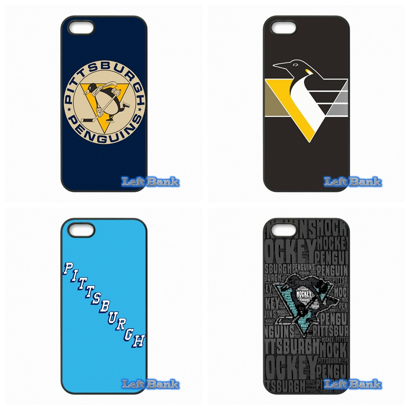 For Apple iPhone 4 4S 5 5S 5C SE 6 6S 7 Plus 4.7 5.5 iPod Touch 4 5 6 Hockey Pittsburgh Penguins Case Cover