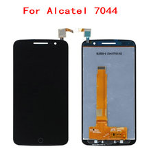 цена на For Alcatel 7044 OT-7044 LCD Display Touch Screen 100% Original Quality Screen Digitizer Assembly Replacement Mobile Phone LCDs