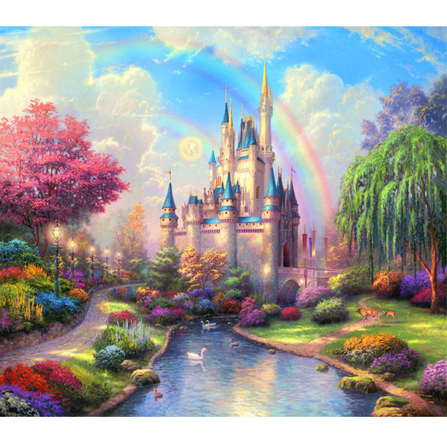 Aliexpress Com Buy Fantasy Castle And Colorful Plant