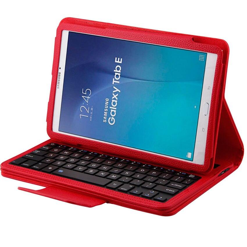 Bluetooth клавиатура 2 в 1 съемный Беспроводной чехол для Samsung Galaxy Tab E T560 T561 T565 планшет 9,6 из искусственной кожи кожного покрова