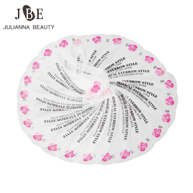 48Pcs/Lot Eyebrow Stencil Grooming Stencil Kit Make Up Tools Painted Model Stencil Eyebrow Shape Templates For Eyebrows Cosmetic