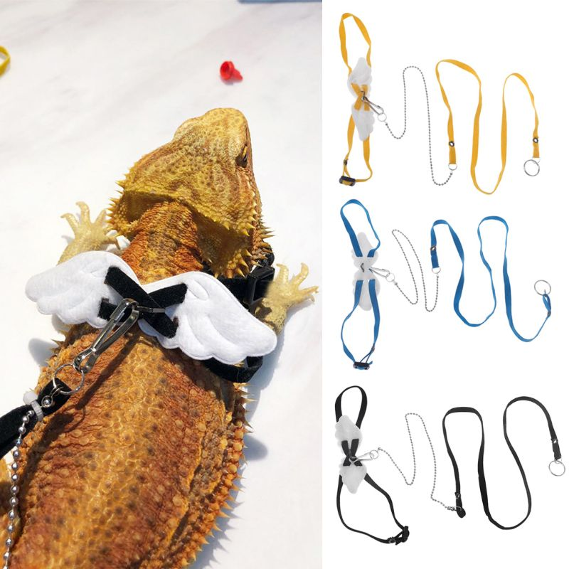 1PC  Adjustable Reptile Lizard Harness Hauling Cable Rope Durable Small Animals Leashes Pet Pruducts 3 Colors