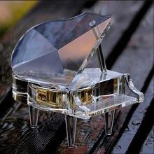 Роскошная музыкальная шкатулка ручной работы с прозрачными кристаллами