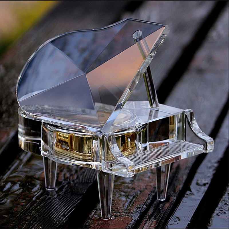 Wedding Music Box Gift: Aliexpress.com : Buy Luxury Handmade Clear Crystal Piano