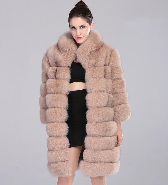 Aliexpress.com : Buy Long Fox Fur Coat Natural Fox Fur Beige Color