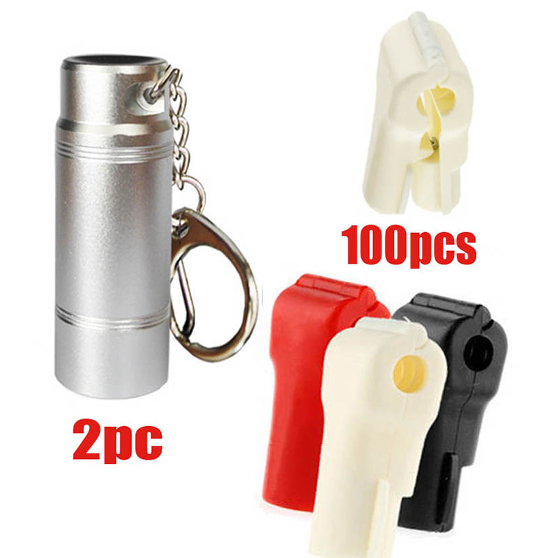 102xWholesales plastic EAS security stop lock anti-theft  for display hook in retail shop with magnetic key red white black