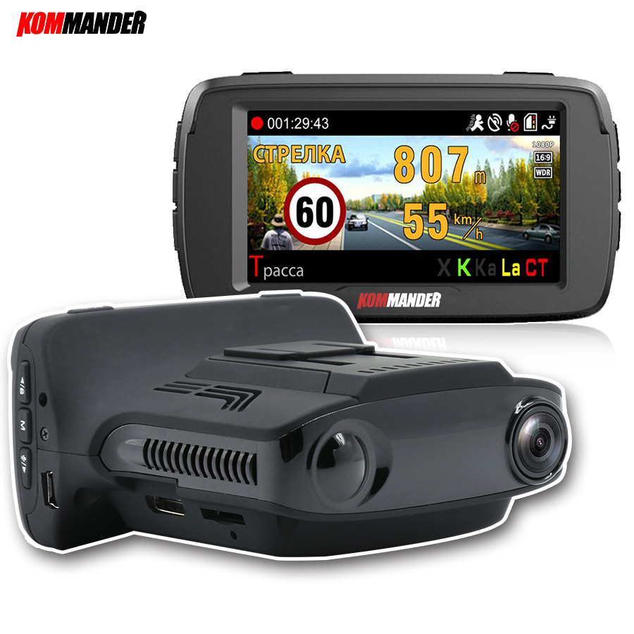 Kommander <font><b>Car</b></font> Camera <font><b>CAR</b></font> <font><b>DVR</b></font> with <font><b>Radar</b></font> <font><b>Detector</b></font> Built-<font><b>in</b></font> <font><b>GPS</b></font> LDWS <font><b>3</b></font> <font><b>in</b></font> <font><b>1</b></font> Avoid tickets for Russia Language Speedcam 1080p image