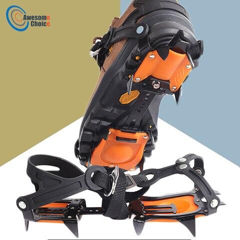 10 dentes garras pinca de gelo crampons sapatos antiderrapantes de alta qualidade ajustavel para caminhadas