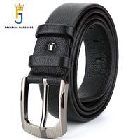 FAJARINA Top Quality Unique Design Zipper Genuine Leather Mens Belts Men S Luxury Brand Cowhide Leather