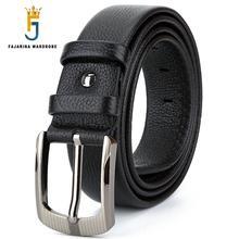Fajarina أعلى جودة تصميم فريد سحاب جلد طبيعي للرجال أحزمة الرجال الفاخرة جلد البقر حزام 3.8 سنتيمتر واسعة N17FJ419