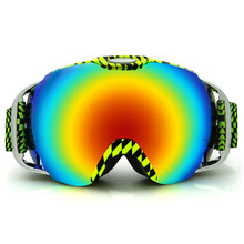 1 SET Outdoor Sports Skiing Eyewear Ski Goggles With Original Box Double Anti-fog UV400 Big Ski Mask Snow Snowboard Glasses