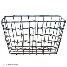 hot sale online 731f4 448b7 labeled vintage retro industrial tapered metal cheap wire baskets(China)