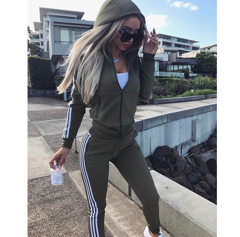 Two Piece Set Tracksuit For Women Hoodie Tops And Pants Tracksuits Casual Sweat Suits