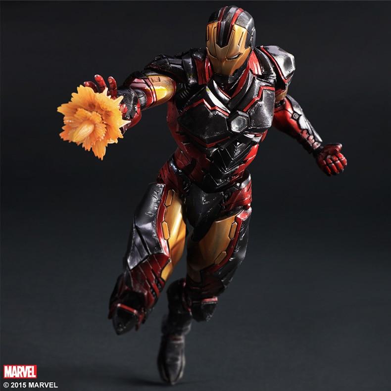 ФОТО Play Arts Kai Iron Man Super Hero Age of Ultron Tony Stark Hulkbuster PA 27cm PVC Action Figure Doll Toys Kids Gift Brinquedos