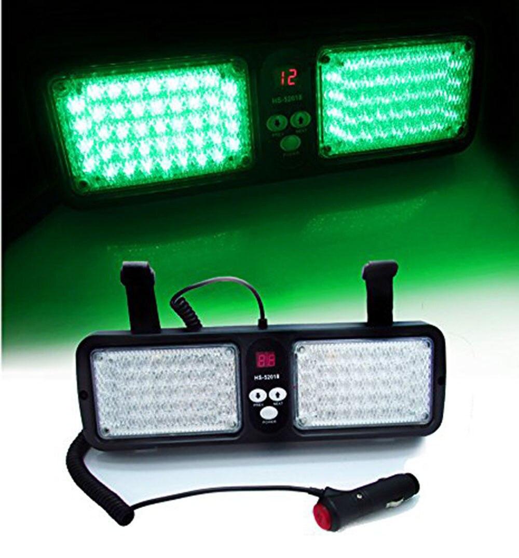 CYAN SOL BAY Vert 86 LED De Voiture Camion Pare-Soleil Flash Stroboscopique Éclairage D'urgence Avertissement Lumière