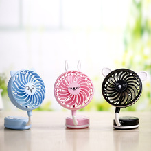 Miniature portable handheld mirror ultra quiet fan rechargeable lithium battery Mini USB cartoon