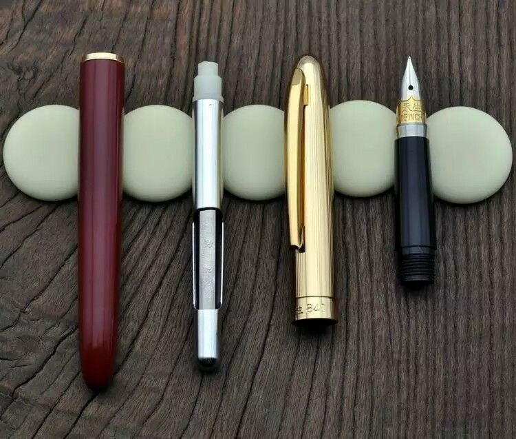 Rare Old Stock 1Pc Wing Sung 840 Fountain Pen Ink Pen F Nib Aerometric Pen Stationery Office school supplies penna stilografica|Fountain Pens| |  - title=