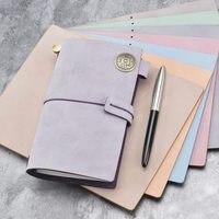 Yiwi Vintage Genuine Leather Notebook Diary Travel Journal Planner Sketchbook Agenda DIY Refill Paper School Birthday