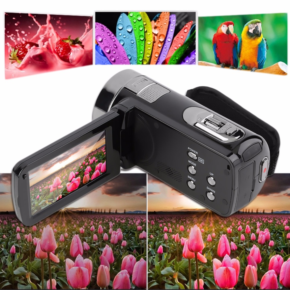 В наличии! 3,0 дюймов Full HD 1080 P 16X Оптический зум 24MP цифрового видео Камера DV видеокамер Новый