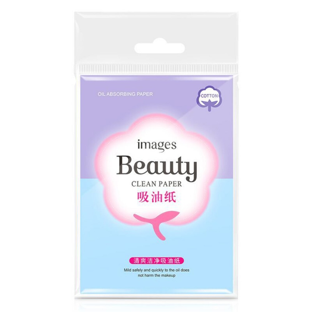 100pcs/Box Oil Absorbing Facial Cleanser Paper Shrink Pores Absorb Makeup Cleansing Paper Beauty Tools #267074