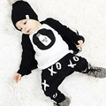 New 2016 Fashion Summer Cotton Fox Printed T-Shirt + Pants Baby Boy Clothing Set Baby Boy Clothe Girls Fashion Infant 2pcs Suit