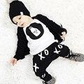 Nueva moda de verano 2016 algodón Fox impreso camiseta + pantalones del bebé de la ropa del bebé arropan niñas moda infantil 2 unids traje